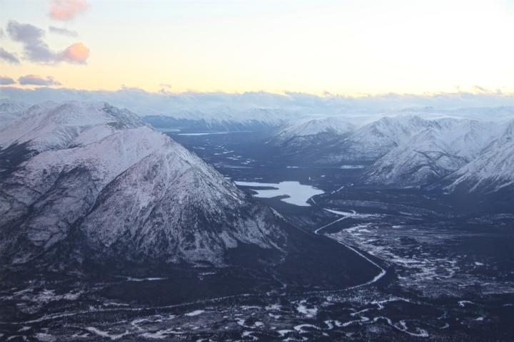 Le Yukon vu du ciel