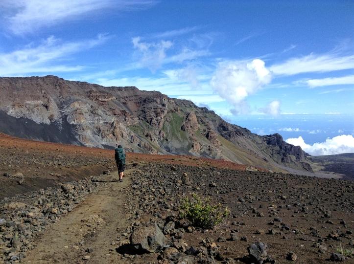 Randonnée dans le cratère du volcan - sentier Sliding Sands