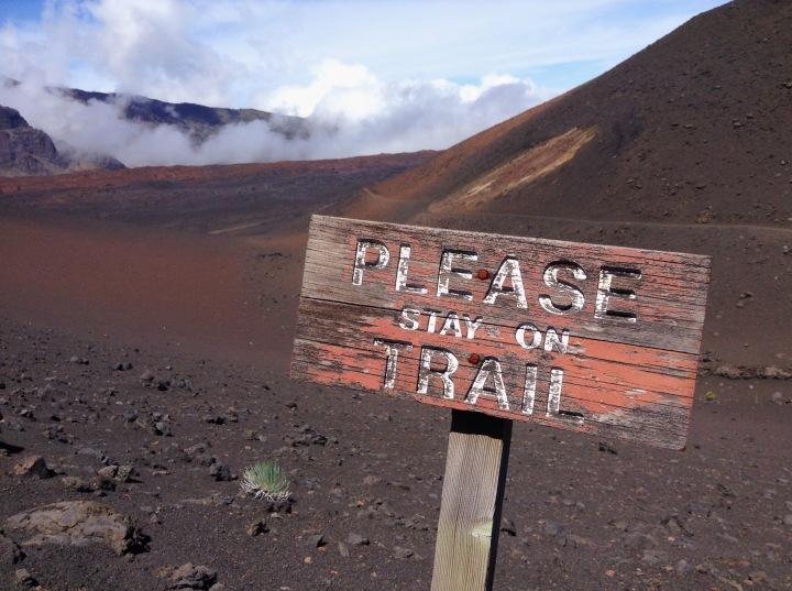 Règle no1 du bon randonneur : rester dans les sentiers