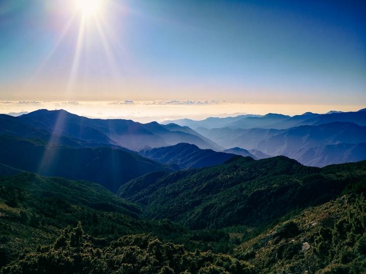 Randonnée dans le parc national de Yushan, àTaïwan